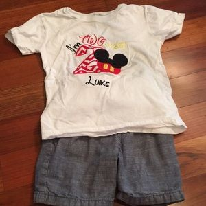 """Mickey Mouse """"I'm TWOdles!"""" Outfit, Size 3T"""